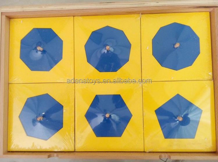 Montessori Sensorial Geometric Cabinet (blue) A100/teaching Aids ...