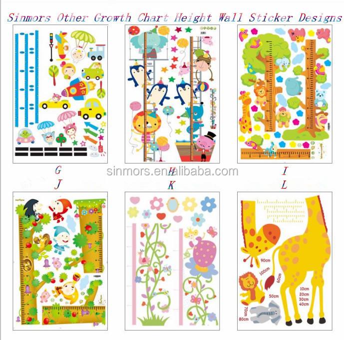 Diy Kids Height Measurement Wall Sticker Giraffe Growth Chart Decals