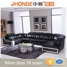 2016 corner sofas seating unit leather sectional sofa recliner u shape