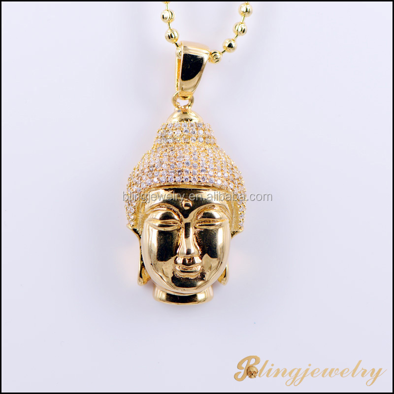Dubai Gold Jewelry Pendant Solid Back Laughing Buddha Wholesale Hip