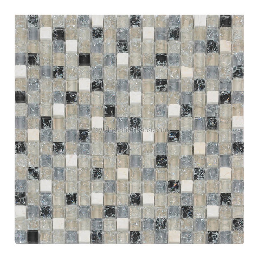 Glossy Texture Cracked Glass Mosaic For Kitchen Backsplash Tile Buy Glass Mosaic Cracked Glass Mosaic Cracked Glass Mosaic For Kitchen Backsplash