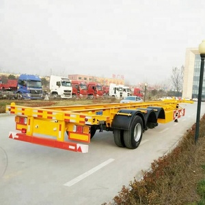 Commercial Tractor Skeleton Truck Semi Trailer Chassis