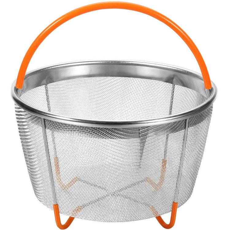 Hot Sell Pot stainless steel steamer basket with Silicone Handle