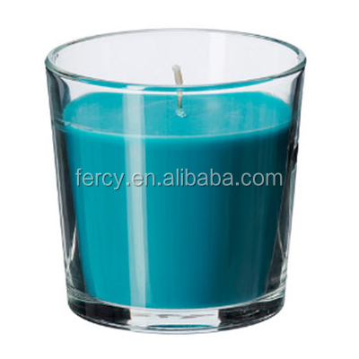 Colorful Scented Candle in Glass Jar