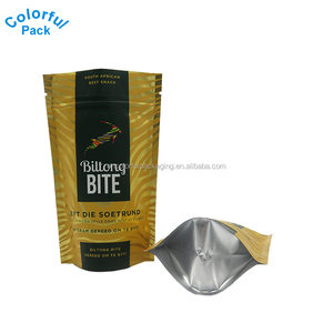 Food packaging aluminium foil stand up bag with zipper for biscuit packet