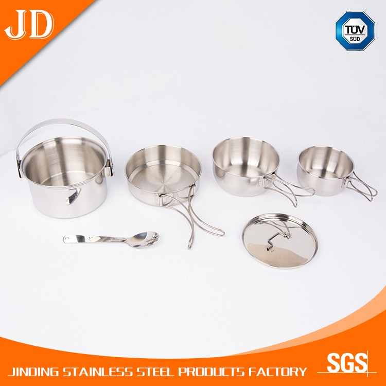 cheapest price OEM service china stainless steel camping cookware