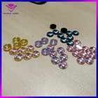 round cabochon cut AB color glass stone polish crystal manufacturers, flat glass gems 20mm