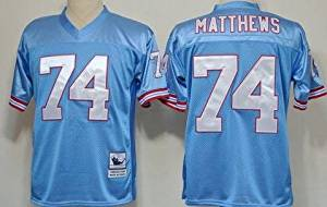 f013f4ab376 Classic Bruce Matthews  74 Houston Oilers Unsigned Custom Blue Football  Throwback Jersey for men -
