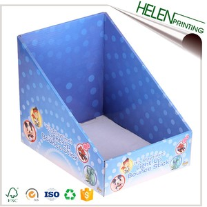 Customized full color printed corrugated paper jewelry display box