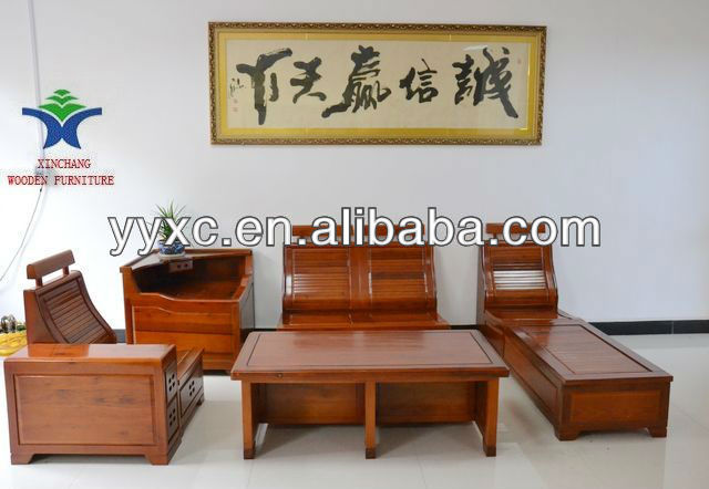 Living Room Solid Wood Sofa Set