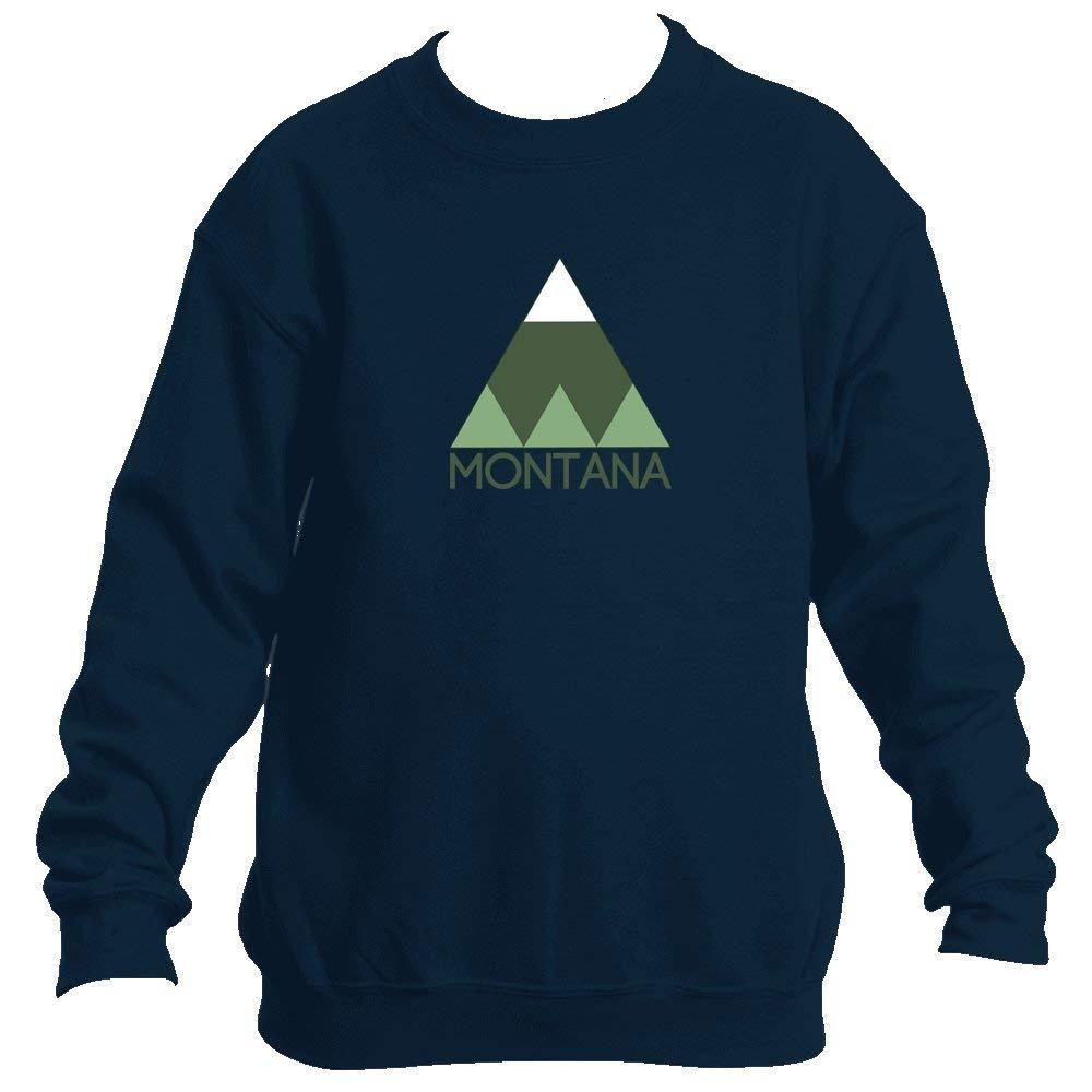 Minimal Mountain - Montana Youth Fleece Crew Sweatshirt - Unisex