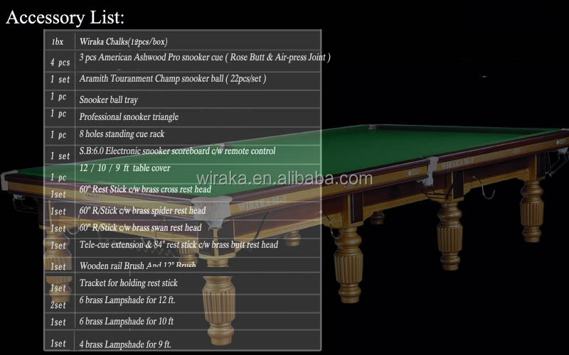 Wiraka Silver Steel Block Snooker Table & Wiraka Silver Steel Block Snooker Table View Snooker table Wiraka ...