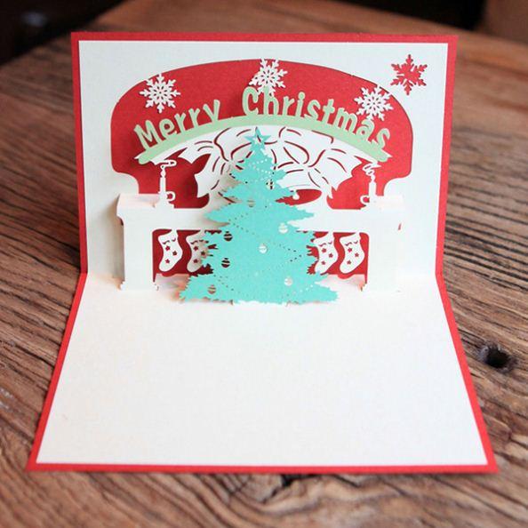 papel d popup de tarjetas de felicitacin hechas a mano feliz navidad rbol de