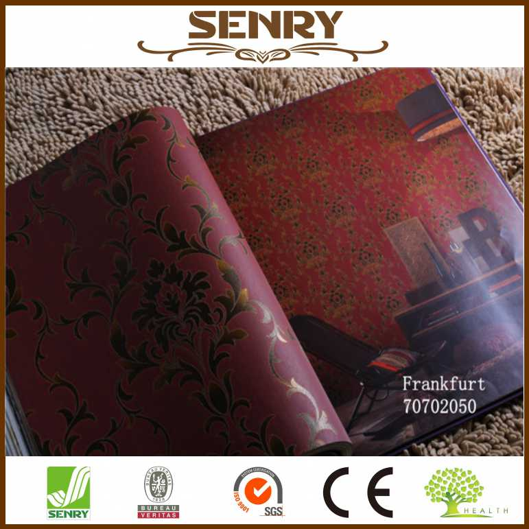 Laminated wallpaper rose of 3d effect wallpaper