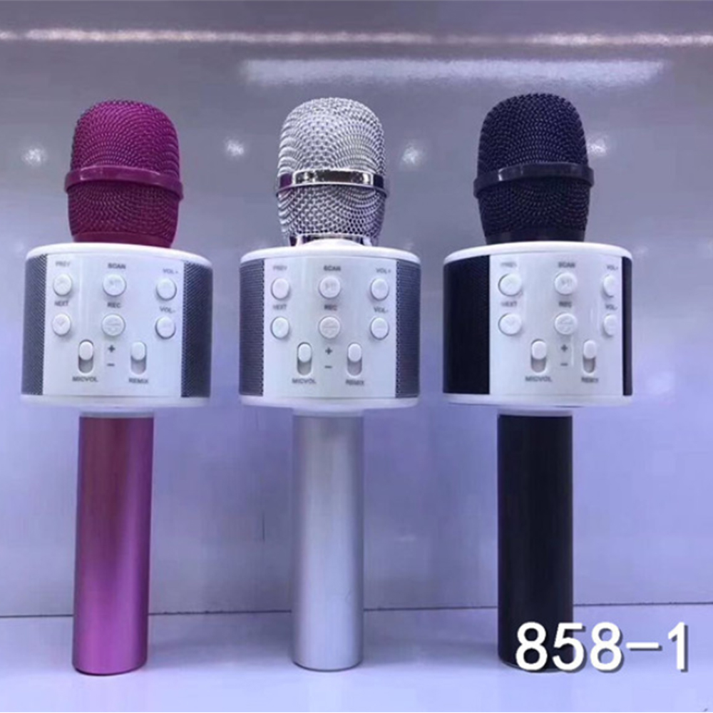858-1 Handheld Portable Wireless bluetooth 4.2 karaoke microphone for KTV
