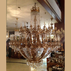 Elegant antique brass crystal chandeliers