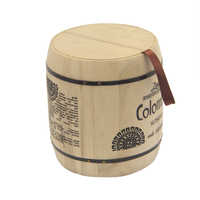 hot selling FSC&SA8000 miniature wooden coffee bean barrels cute wooden kegs with factory price