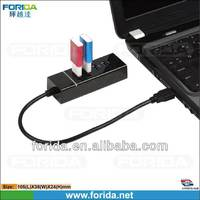 USB3.0 4 Port Portable USB 3.0 Hub for Ultra Book, MacBook Air, Windows 8 Tablet PC, 12 Month Warranty - Black