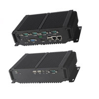 High Performance Embedded Industrial Fanless Mini PC With XP/Win7/Win8/Win10/Linux 2xLAN 4xUSB Used For Kiosk Solution