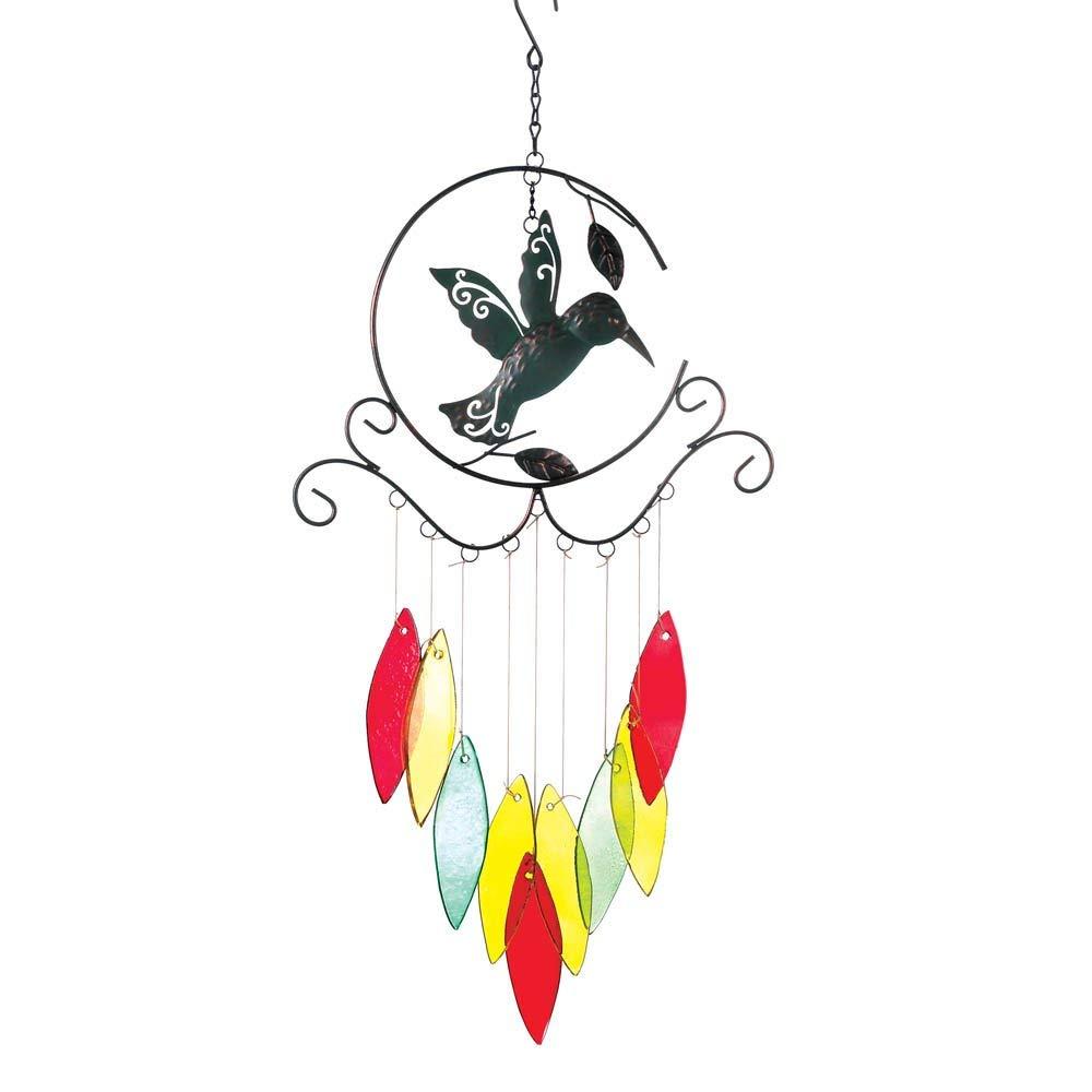 BESTChoiceForYou Hummingbird Wind Chimes, 1 - Hummingbird Wind Chimes, Wind Hummingbird Chimes Garden Decor Home, Chime Yard Hanging Wind Chimes, Fanciful Hummingbird Cutout Wind Chimes Outdoor Decors