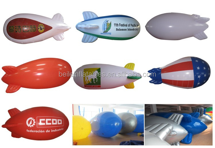 Factory price hot sale PVC inflatable helium blimp with customized logo