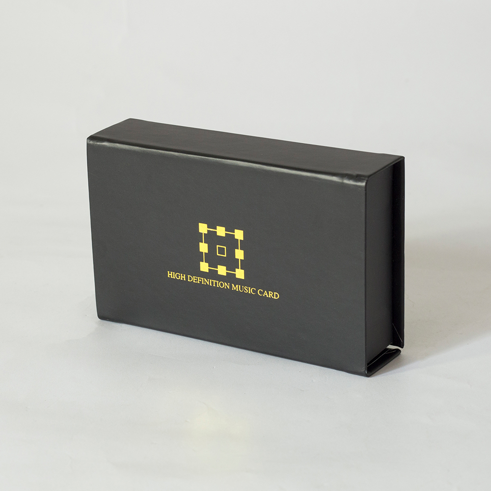 custom printed matt black logo gold foil magnetic cover credit card gift box packaging with foam insert