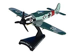 Focke Wulf Fw190 Single Seat Fighter Aircraft Built-Up Die Cast 1-87 Model Power