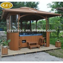 wooden gazebo outdoor spa funiture
