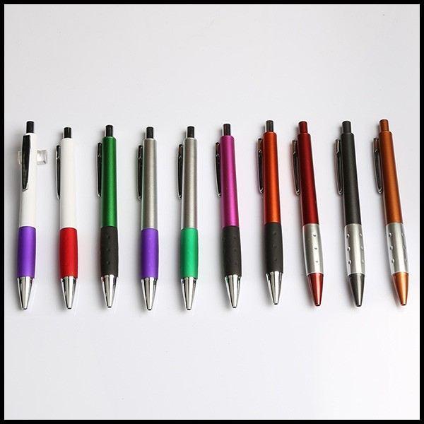 Available custom colors Soft grip plastic ballpoint pen brands