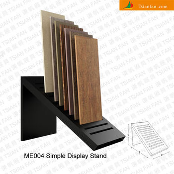 Wholesale New Design Simple Modern Style Black Wood Stone Tiles Display Stand