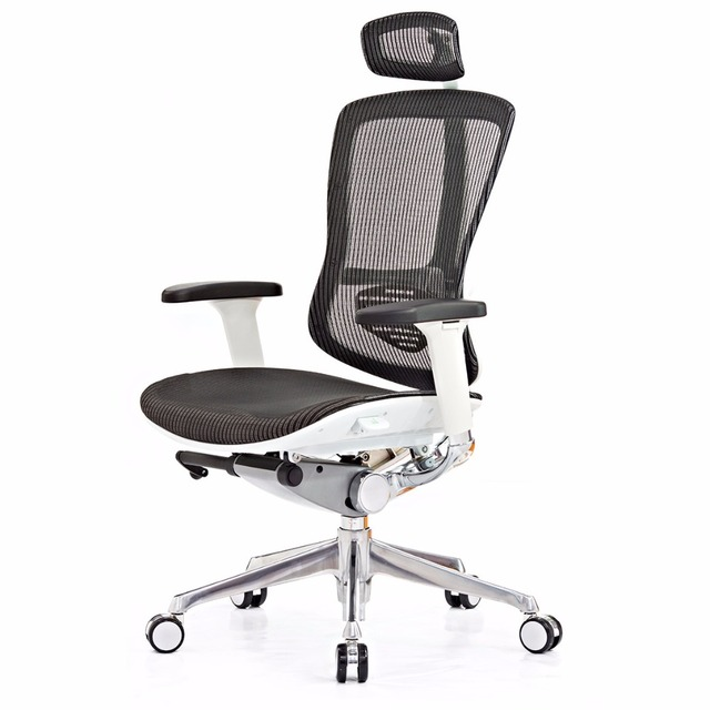 Wired-drived control system fabric korea pu mesh back furniture low back office chair with nylon frame