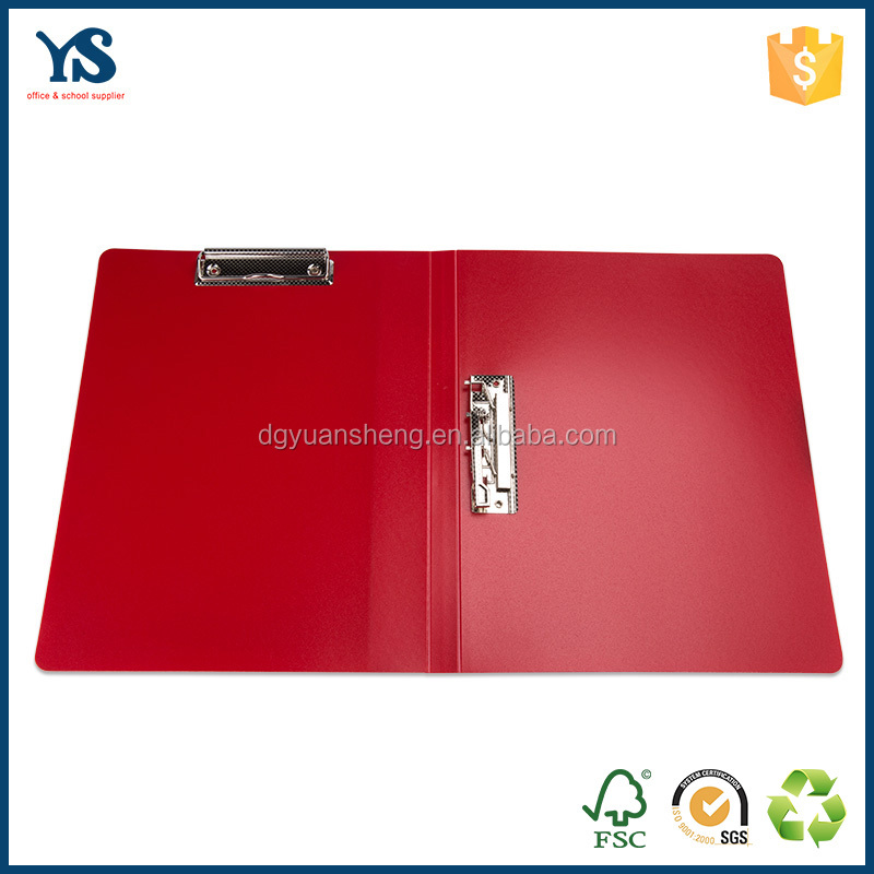 Hot sale product red color a4 size stick file folder use in office