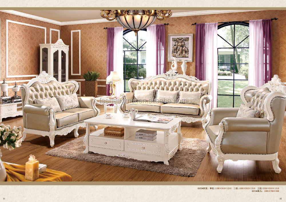 China Living Room Sofa Set Dubai Leather Sofa Furniture