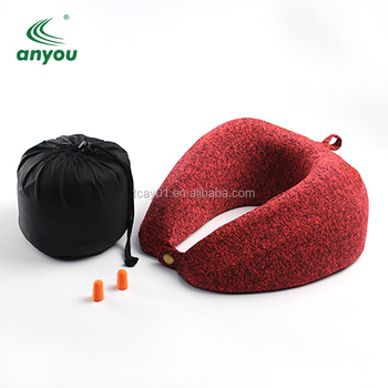 wholesale convenient reelable U-shape neck pillow with free eye mask carrying bag ear plugs for have a good rest  in plane