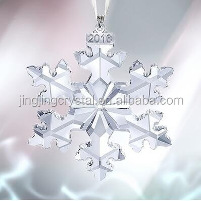 Clear Crystal Snowflake pendant For Christmas Decorating