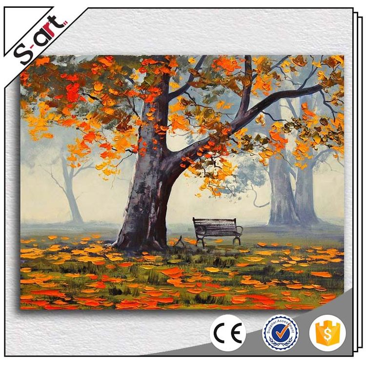China goods direct sale lucky tree canvas printing art