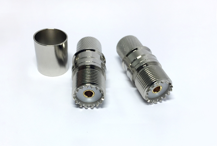 RF Coaxial cable connector bulkhead mounted B-H F-J F type female connector for PCB