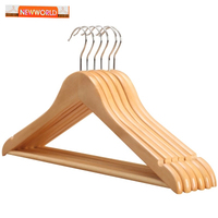 High quality classical luxury P66 A level non slip wooden hanger