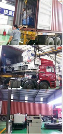Double head UPVC window welding machine