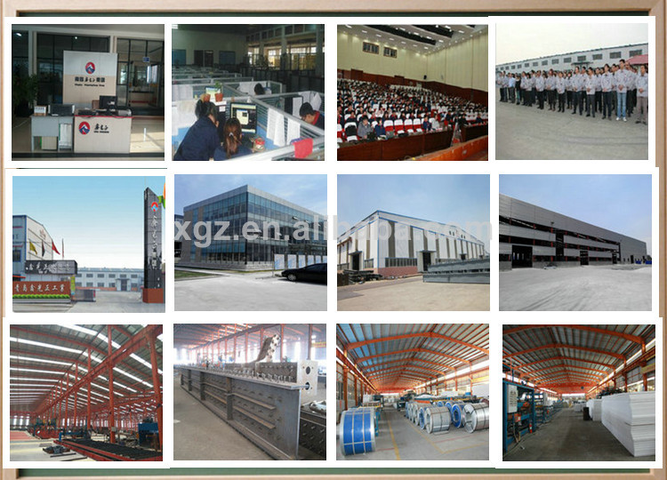 One-stop service Galvanized steel chicken rearing house and equipments