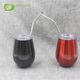 High quality stainless steel drinkware 10 oz Wine Cup, double wall vacuum wine cup with clear lid