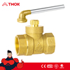 Brass Lockable Ball Valve BS21 Standard 1/2 inch Brass Ball Valve with Key for Water Oil Gas