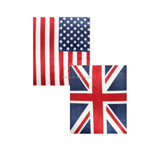AOFU Home Bedding Flannel Soft American England Flag Pattern oversized Plush Luxury Bed Sleep Throw Blankets