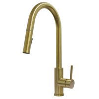 304 stainless steel pull-out gold color kitchen faucet