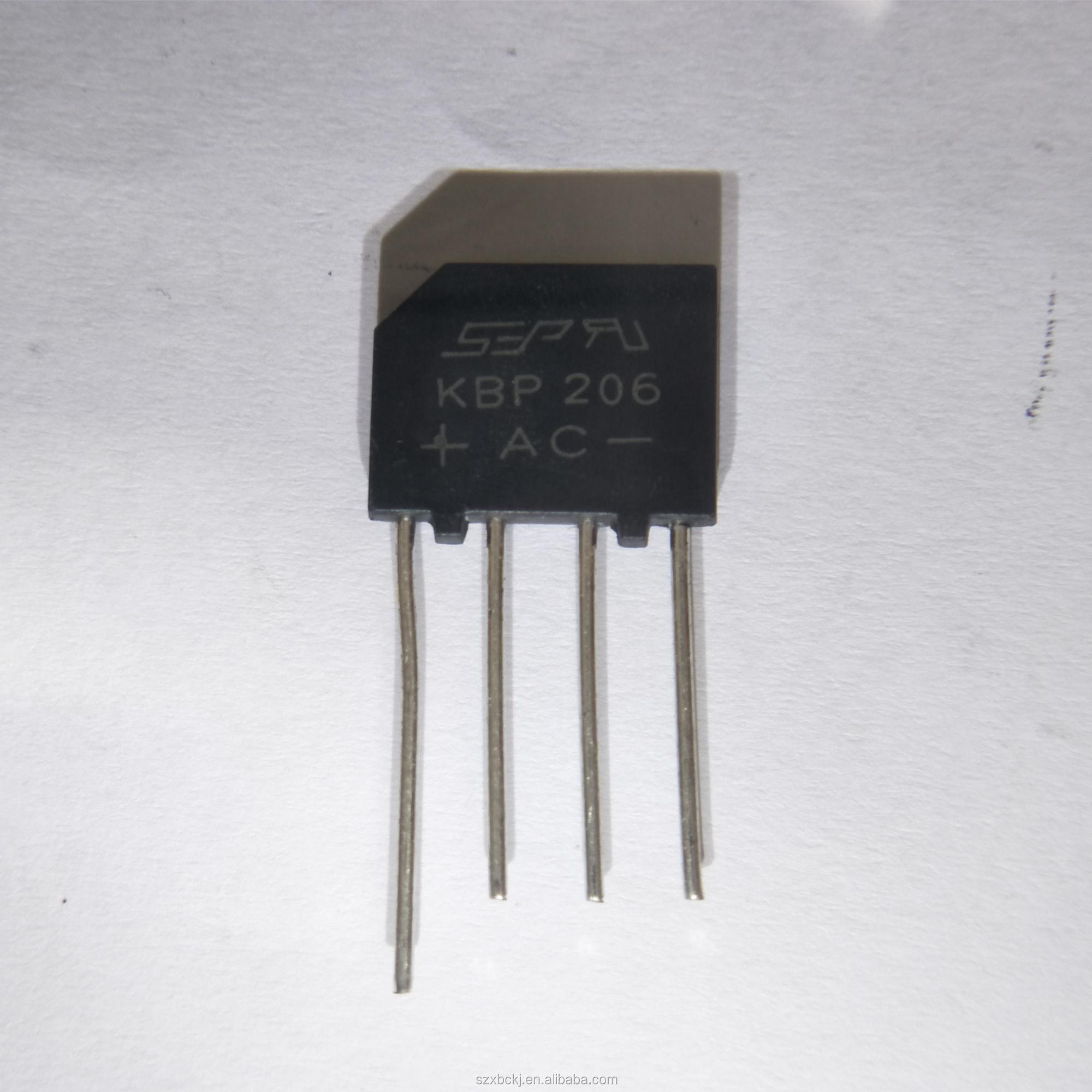 Catlogo De Fabricantes Puente Rectificador Kbp206 Alta Schottky Diodeelectronic Componentsrectifier Diodes Product On Calidad Y En Alibabacom