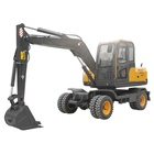 Chinese 7t mini wheel excavator for sale