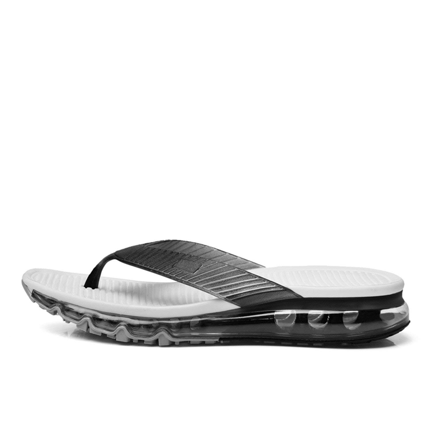 Marvin Cook Full Air Cushion Flip Flops Men Outdoor Home Slippers Summer Shoes Blue/Black/Silver
