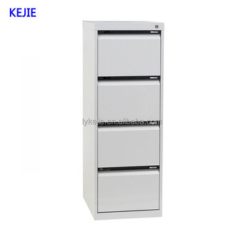 Vertical Four Layers Narrow Drawers White Metal Office File Cabinet 4 Drawer  Metal Filing Cabinet