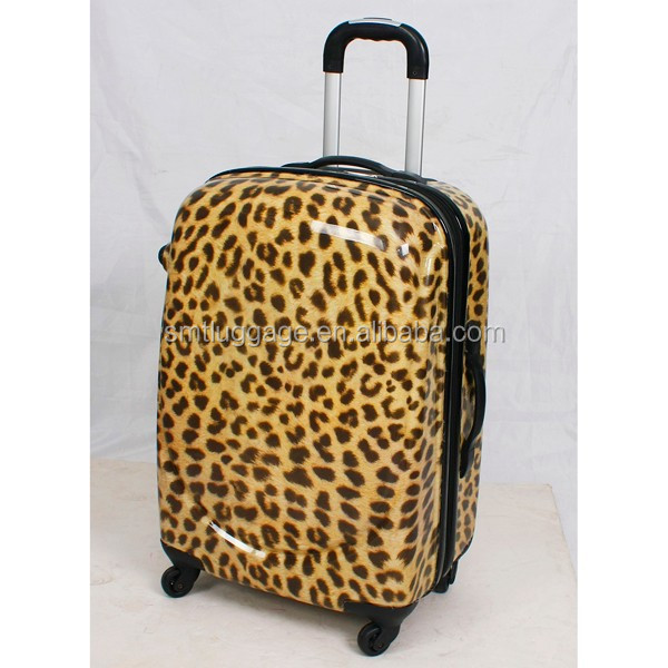 Leopard Printing ABS/PC Trolley Luggage Suitcase for Customizing