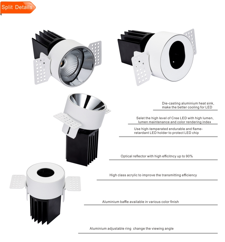 S737 CE 5000 K CustomDesign 13 W Dmx Rgb Gu10 LED Spotlight Fabrikant uit China